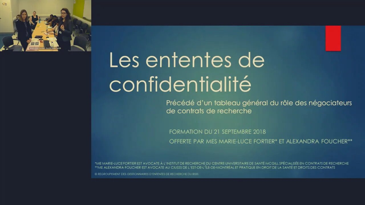 Les ententes de confidentialité
