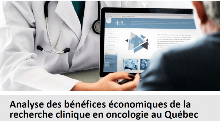 What is the economic impact of cancer clinical research in Quebec?