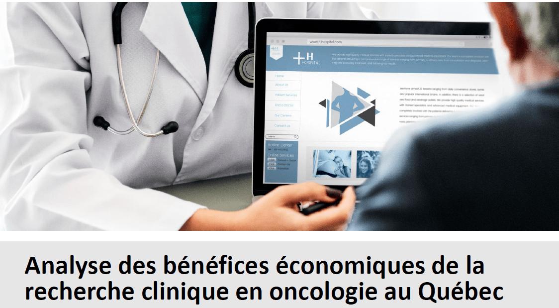 Analyse des bénéfices économiques de la recherche clinique en oncologie au Québec