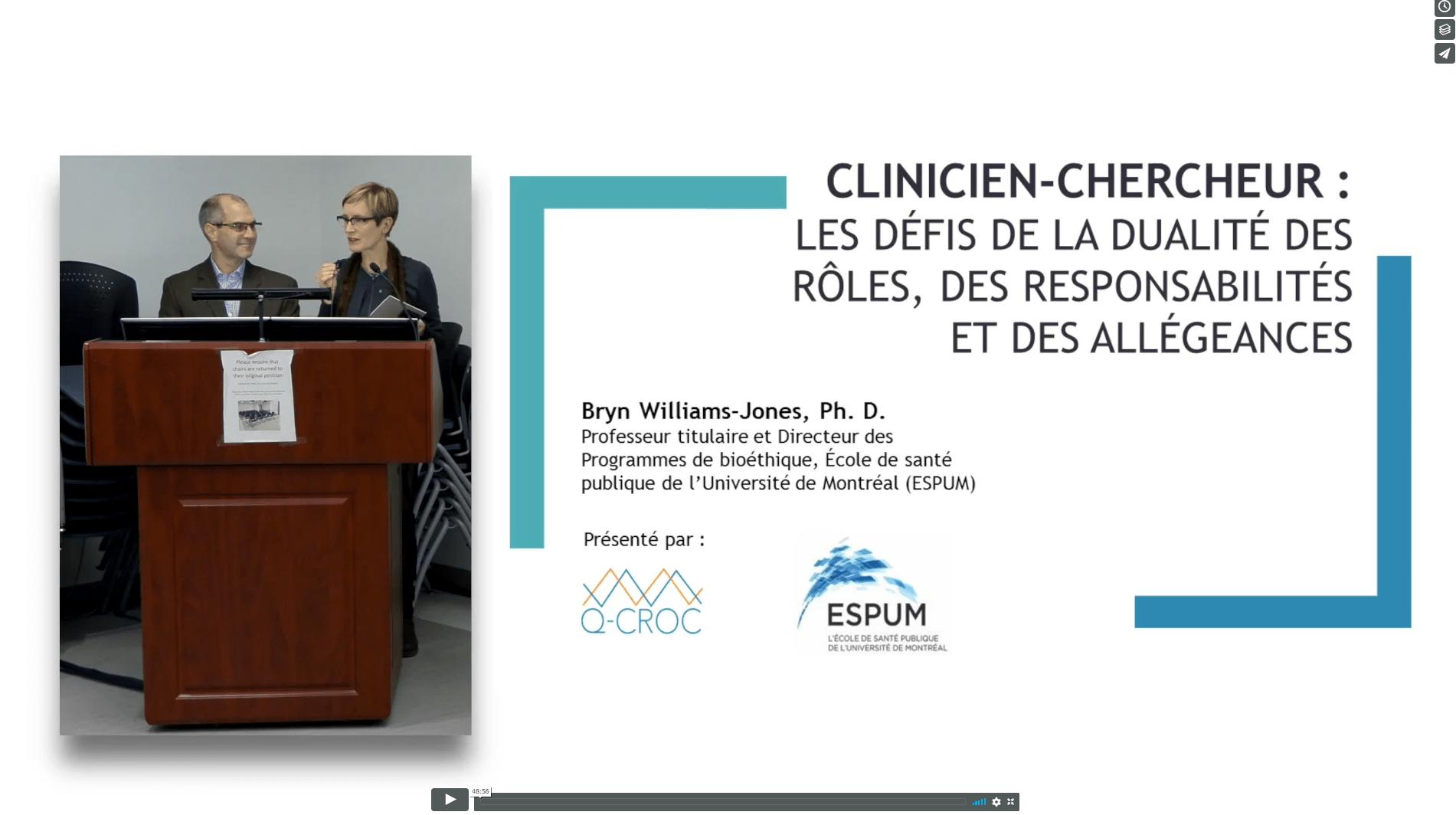 Clinicien-chercheur : défis de la dualité du rôle, des responsabilités et des allégeances