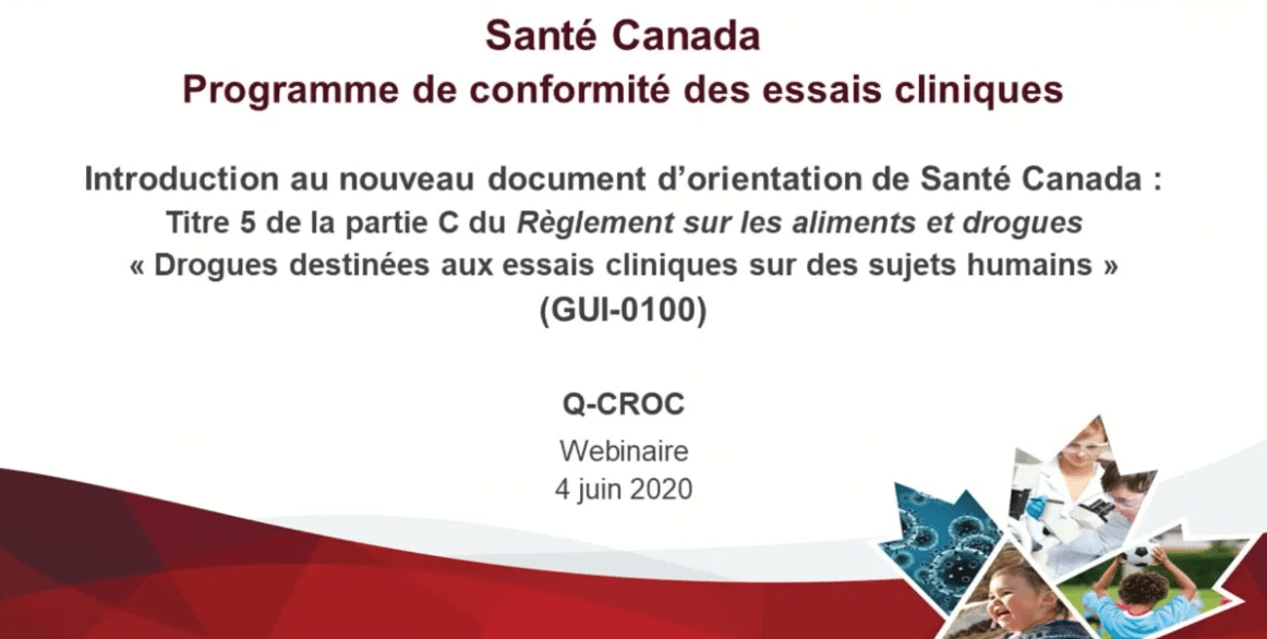 Introduction au nouveau document d'orientation de Santé Canada (GUI-0100)